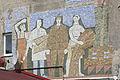 2015 Sokal, Mozaika na ścianie budynku 02.JPG