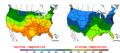 2016-04-25 Color Max-min Temperature Map NOAA.png