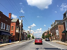 2016-08-20 15 28 12 View north along Maryland State Route 194 (York Street) at Maryland State Route 140 (Baltimore Street) in Taneytown, Carroll County, Maryland.jpg
