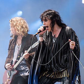 The Struts - Adam Slack (left) and Luke Spiller (right) performing at Rock im Park 2016