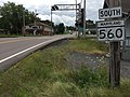 2017-08-06 12 01 46 View south along Maryland State Route 560 (Gorman Street) at Maryland State Route 135 (Maryland Highway) in Mountain Lake Park, Garrett County, Maryland.jpg