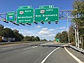 2017-10-06 11 14 34 View west along Interstate 195 (Central Jersey Expressway) at Exit 5B (U.S. Route 130 NORTH, New Brunswick) in Hamilton Township, Mercer County, New Jersey.jpg