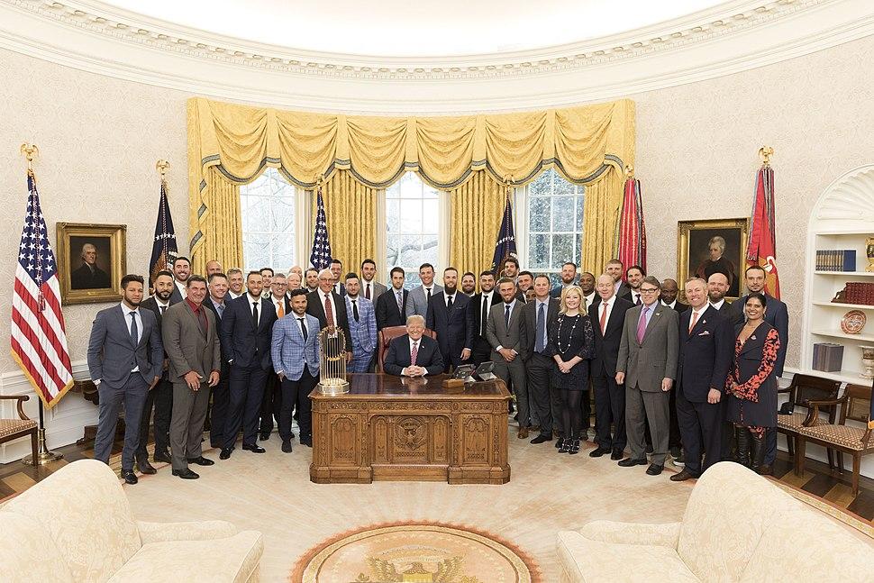 2017 World Series champion Houston Astros visit White House