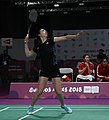 2018-10-12 Badminton Mixed International Team Bronze medal match 1 at 2018 Summer Youth Olympics by Sandro Halank–019.jpg