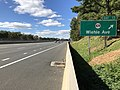 2018-10-24 13 02 46 View west along Virginia State Route 267 (Dulles Toll Road) at Exit 13 (Virginia State Route 828-Wiehle Avenue) in Reston, Fairfax County, Virginia.jpg