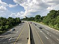 2019-07-05 17 35 11 View north along Interstate 270 Spur from the overpass for Democracy Boulevard along the edge of North Bethesda and Potomac in Montgomery County, Maryland.jpg