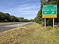 2019-09-23 10 19 14 View west along Maryland State Route 32 (Patuxent Freeway) at Exit 19 (Great Star Drive) in Columbia, Howard County, Maryland.jpg