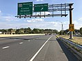 2019-10-02 15 45 51 View south along Maryland State Route 5 (Branch Avenue) at the exit for Schultz Road in Clinton, Prince George's County, Maryland.jpg