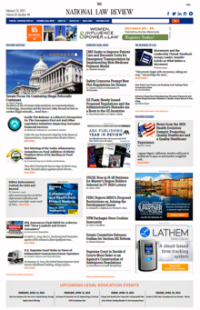 National Law Review Homepage Featuring Articles Contributed by Lawyers