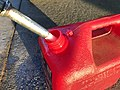 2020-04-11 19 09 16 Gasoline being poured into a plastic gas can at the Sunoco within the Franklin Farm Village Shopping Center in the Franklin Farm section of Oak Hill, Fairfax County, Virginia.jpg