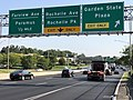 2020-09-08 16 12 08 View south along New Jersey State Route 17 at the exit for Garden State Plaza in Paramus, Bergen County, New Jersey.jpg