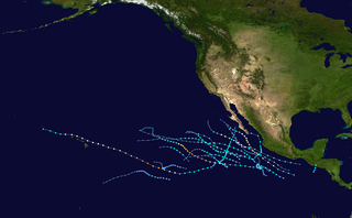 2020 Pacific hurricane season Period of formation of tropical cyclones in the Eastern Pacific Ocean in 2020