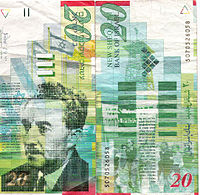 20 new shekel banknote