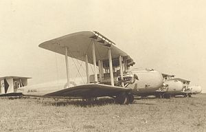 216 Squadron RAF Vickers Victorias at Ismailia, Egypt, c1929 (A A Koch)