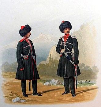 Kuban Cossacks - Cossacks in 1861.