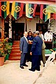 45 Receiving the 20th Anniversary of Independence Medal by the president of Vanuatu, Rev. John Bani, on 30.7. 2000.jpg