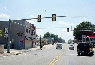 Clarksville, Virginia - Street scene in Clarksville