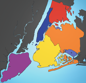 5 Boroughs New York City Map Julius Schorzman.png