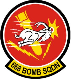 668th Bomb Squadron - Image: 668 Bombardment Sq emblem (1943)