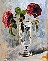 81 - Verre aux roses - Luce Boyals - Huile sur carton - Musée du Pays rabastinois inv.2014.1.13.jpg