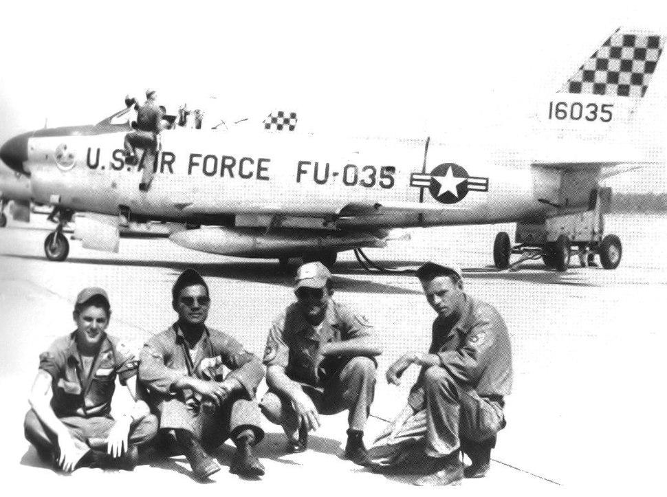 87th Fighter-Interceptor Squadron North American F-86D-30-NA Sabre 51-6035 1956 Lockbourne AFB