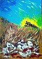 9-Condenados a vivir la oscuridad. Acrílico sobre lienzo de 50 x 70 cm.jpg