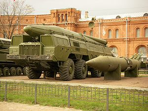 TR-1 Temp - 9P120 launcher with 9M76 rocket of missile complex Temp-S