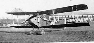 Armstrong Whitworth F.K.8 - Late production F.K.8 showing modified undercarriage, cowling, and radiators, as well as the final long exhausts