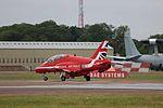 A81A8318 RAF Red Arrow HS Hawk T1 (19902999310).jpg