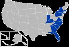 Atlantic Coast Conference Standorten