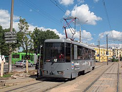 AKSM-1M (BKM-1M) tram (under number 028) in Minsk.jpg
