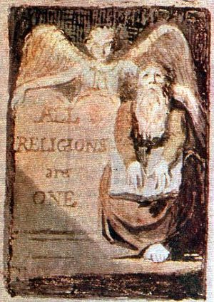 All Religions are One - One of two known impressions of the title page from All Religions are One, printed c1795