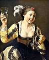A Girl Holding a Glass, 1620s. by Hendrick Terbrugghen (1587-1629). Nationalmuseum, Stockholm, Sweden.jpg