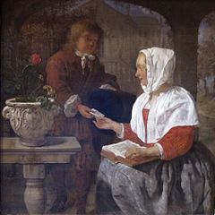 A Girl Receiving a Letter