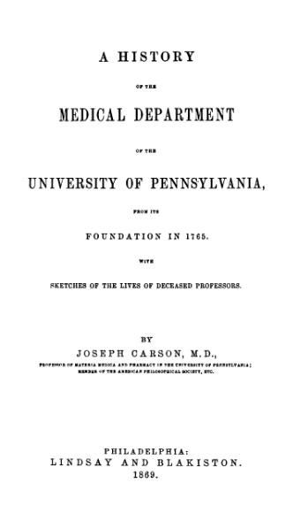 File:A History of the Medical Department of the University of Pennsylvania.djvu