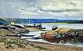 A Pier on the Volga by Nikolay Bogatov.jpg