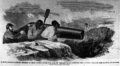 A Rebel Captain Forcing Negroes to Load Cannon Under the Fire of Beedan's Sharp-shooters (May 1862), by Harper's Weekly.png