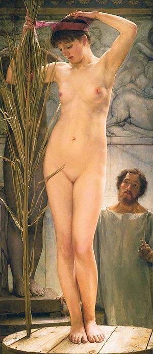 Esquiline Venus - A Sculptor's Model, by Alma-Tadema, 1877