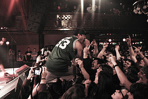 Hardcore punk - Singer Nuno Pereira performing at a A Wilhelm Scream show.