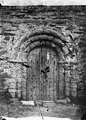 A door in the old church, Aberdaron