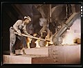 A large electric phosphate smelting furnace used to make elemental phosphorus in a TVA chemical plant in the vicinity of Muscle Shoals, Ala. LCCN2017878703.jpg
