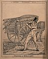 A man dressed in fine clothes is shielding his face from the Wellcome V0040764.jpg