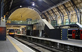 A new footbridge under construction at King's Cross. - panoramio.jpg