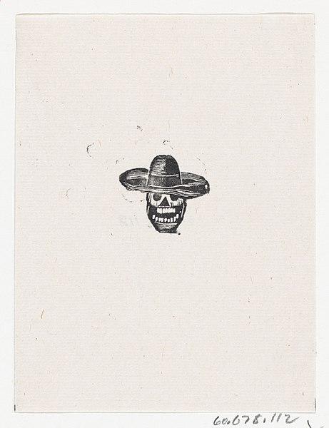 File:A skull wearing a wide brimmed hat MET DP869522.jpg