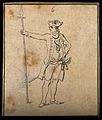 A soldier in the Prussian army. Drawing, c. 1794. Wellcome V0009213.jpg