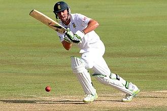 AB de Villiers - De Villiers batting against England