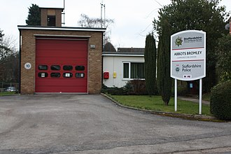 Abbots Bromley - Abbots Bromley Community Fire Station in March 2013