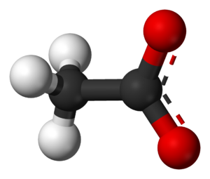 Acetate - Image: Acetate anion 3D balls