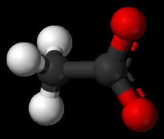 Acetate salt or ester of acetic acid