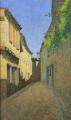 Achille Laugé Ruelle au balcon fleuri 1924.png